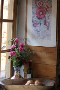 a corner of my kitchen with ginny's artwork (427x640)