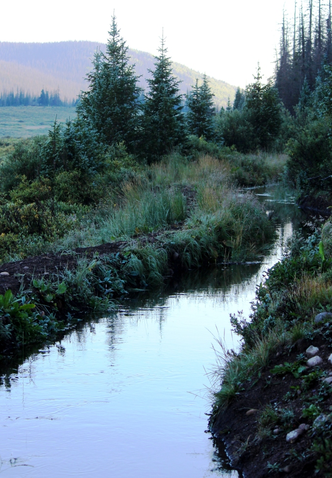a ditch on the divide