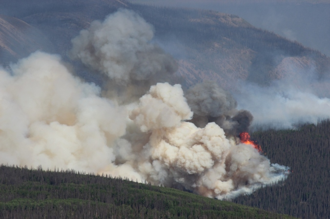 papoose fire between little and big squaw