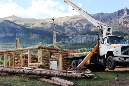 setting upright for ridgebeam